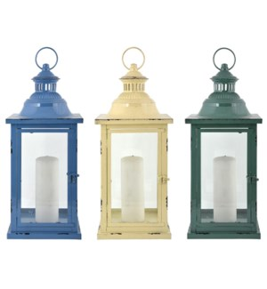 Lantern 3/Asst Large Iron Glass