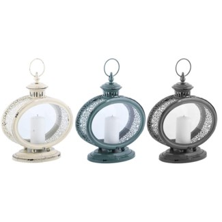 Lantern 3 colours oval -  11x5.7x13.4in.