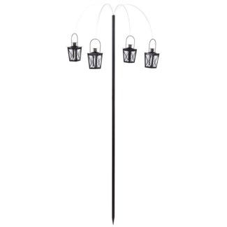 Wind light palm with 4 wind lights -  24.4x24.4x56.3in.
