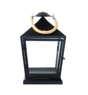 Lantern black with rope S