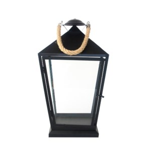 Lantern black with rope M