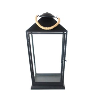 Lantern black with rope L