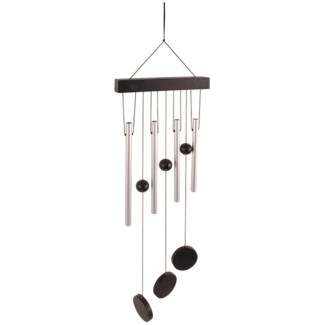 Wind chime Straight. Aluminum, wood, twine, plastic. 20,0x3,5x58,0cm. oq/12,mc/48 Pg.97