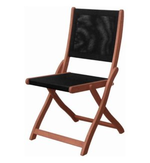 Dbl Folding Chair W/ Blk Text