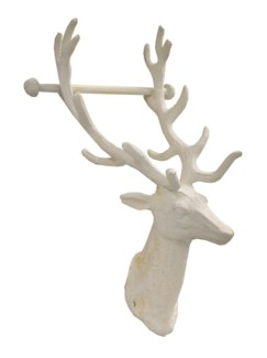 Reindeer Toilet Roll Holder, antique white finish 6.1x5.8x12inch*Last Chance!!*