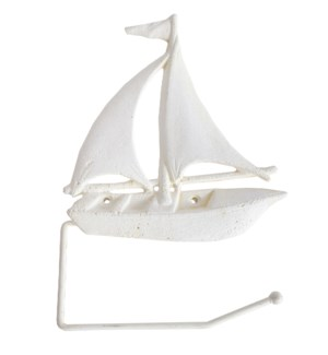 Sailboat TP Holder White LC