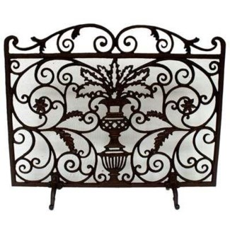 fireplace screen with legs 29.7x28x 7.7inch On Sale 35 percent off