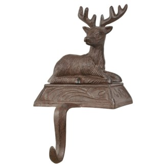 Stocking hanger deer. Cast iron. 12,5x13,8x20,6cm. oq/12,mc/12 Pg.141