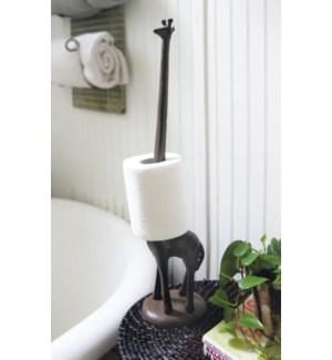 """""""Giraffe Toilet Paper Rack, Rustic Brown"""""""