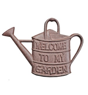 """Cast Iron Sign, Antique Rust, welome garden"""