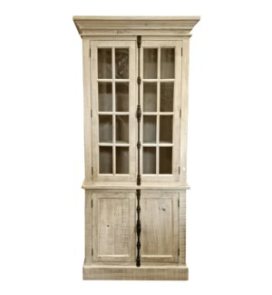 Madeline Cabinet,Natural, Reclaimed Pinewood, 39x17.7x86.6inch