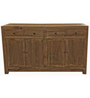 Huron Buffet Cabinet, Dark Brown, Reclaimed  Pinewood,59x15.7x35inch