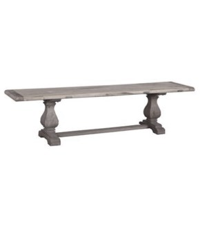 Superior Bench, Grey, Reclaimed Elmwood, 66x15x18inch
