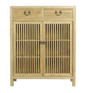 Urmia Side Cabinet, Natural, Recycled Elmwood, 35.4 x 15.7 x 43.3 Inch