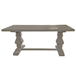 Superior Dining Table, Grey, Reclaimed Elmwood, 70.9x35x29.9inch