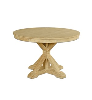 Aral Dining Table, Natural, Recycled Elmwood, 47x47x30 Inches