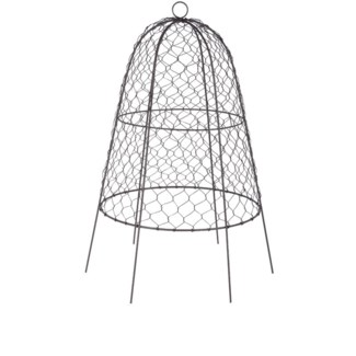 Wire cloche, Zinc coated iron wire -15x15x21.7in.