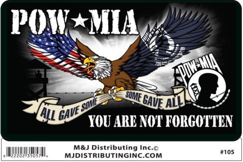 Sticker POW MIA