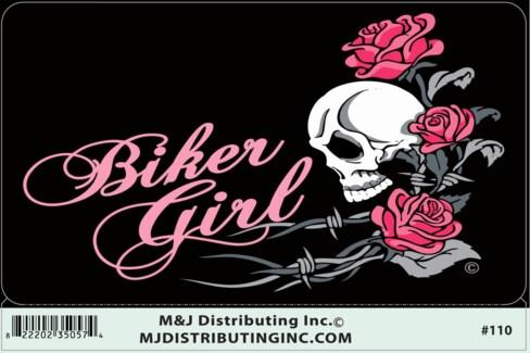Biker Girl Sticker