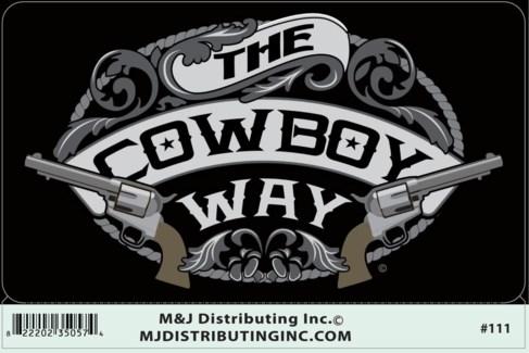 Sticker-Cowboy Way