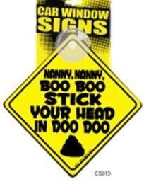 Boo Boo Stick Window Cling
