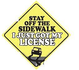 Stay of the Sidewalk Window Cling