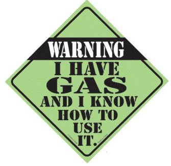 Warning I Have Gas Window Cling