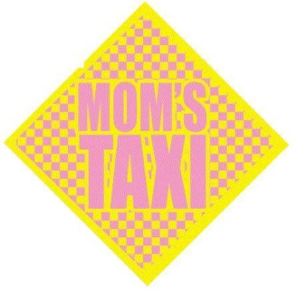 Moms Taxi Window Cling