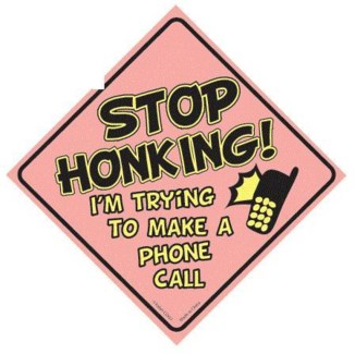 Stop Honking...Window Cling