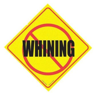 No Whining Window Cling