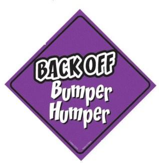 Back Off Bumper Humper Window Cling