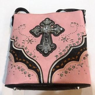 Womens Bling Messenger Bag