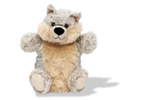 Super Soft Plush Hand Puppet-Wolf**Discontinued**