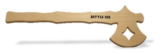 Battle Axe Medieval Axe 20.5 in.