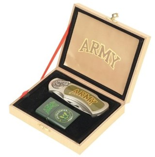 Army Knife & Lighter Set