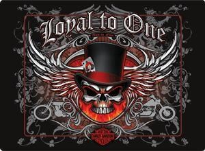 H-D Loyal to one skull