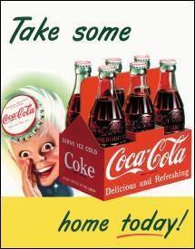 Coke Boy Take Some Home Metal Sign
