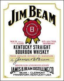 Jim Beam Metal Sign