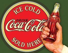 Ice Coke Bullseye Metal Sign