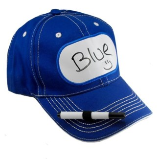 Dry Erase Billboard Cap Blue