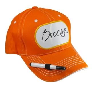 Dry Erase Billboard Cap-Orange