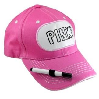 Dry Erase Billboard Cap-Pink