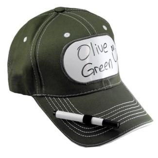 Dry Erase Billboard Cap-Olive Green