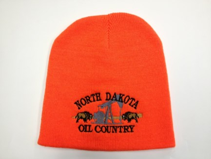 ND Black Double Buffalo Oil Country Beanie**Discontinued**