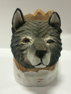 Wolf Head Pencil Display