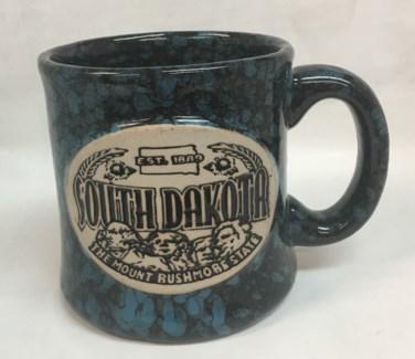 SD Straight Shape Stoneware Mug Blue Speckled