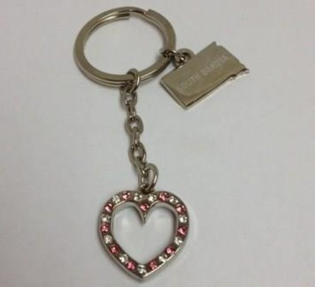 SD Sm. Heart Bling KC w/charm