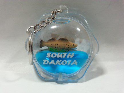 SD Flower shape Walleye Keycchain