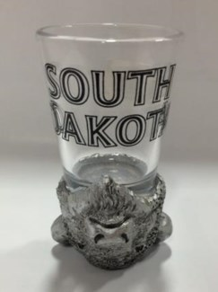 SD Buffalo Head Upside Down Shot Glass