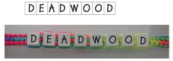 Deadwood Cube Bracelet